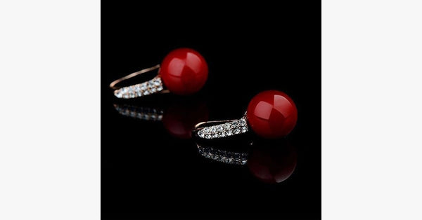 Red Coral Earring - FREE SHIP DEALS