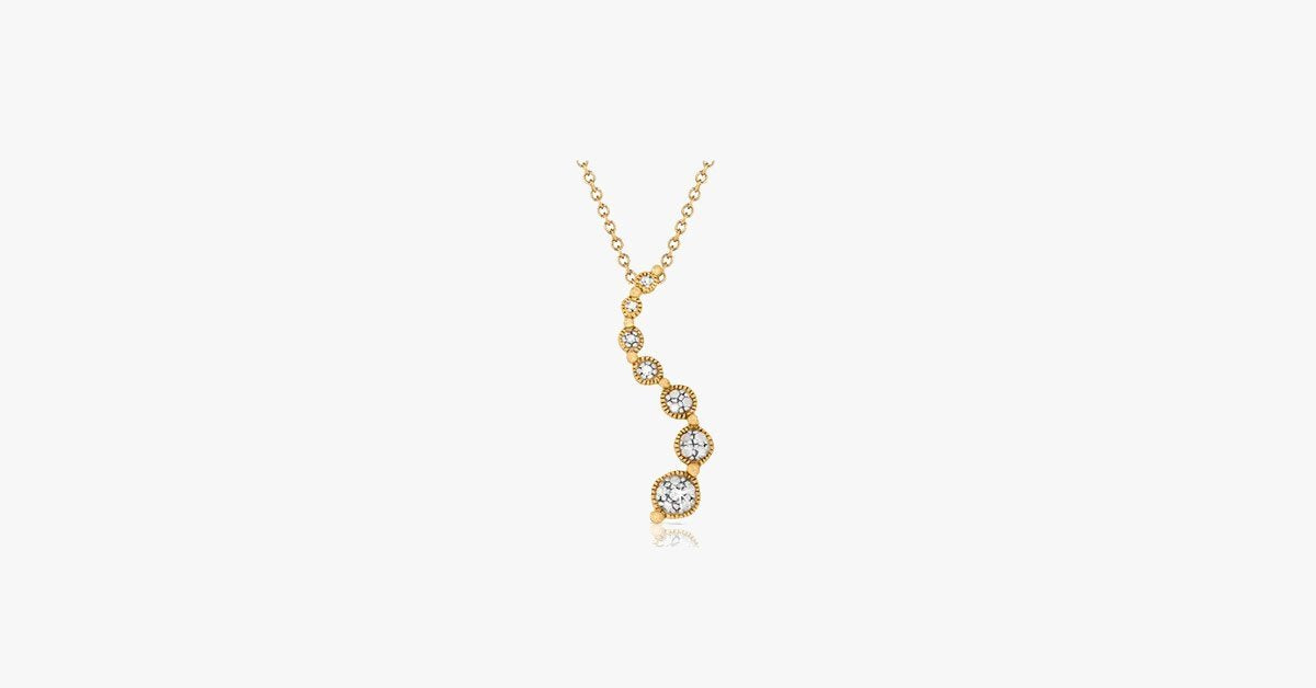 Diamond Accent Journey Pendant in Gold - FREE SHIP DEALS