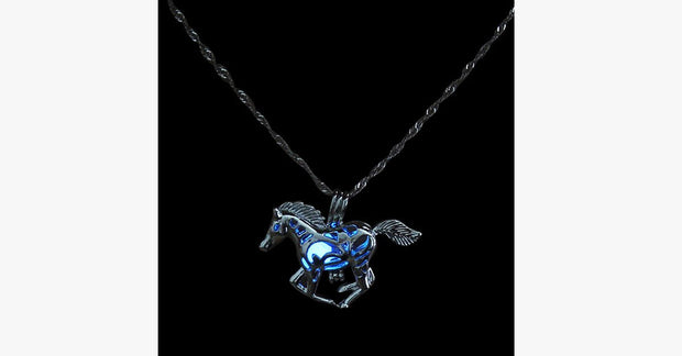 Glow In The Dark Running Horse Necklace - FREE SHIP DEALS