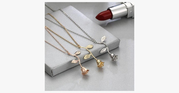 Exquisite Tricolor Rose Flower Pendant - FREE SHIP DEALS