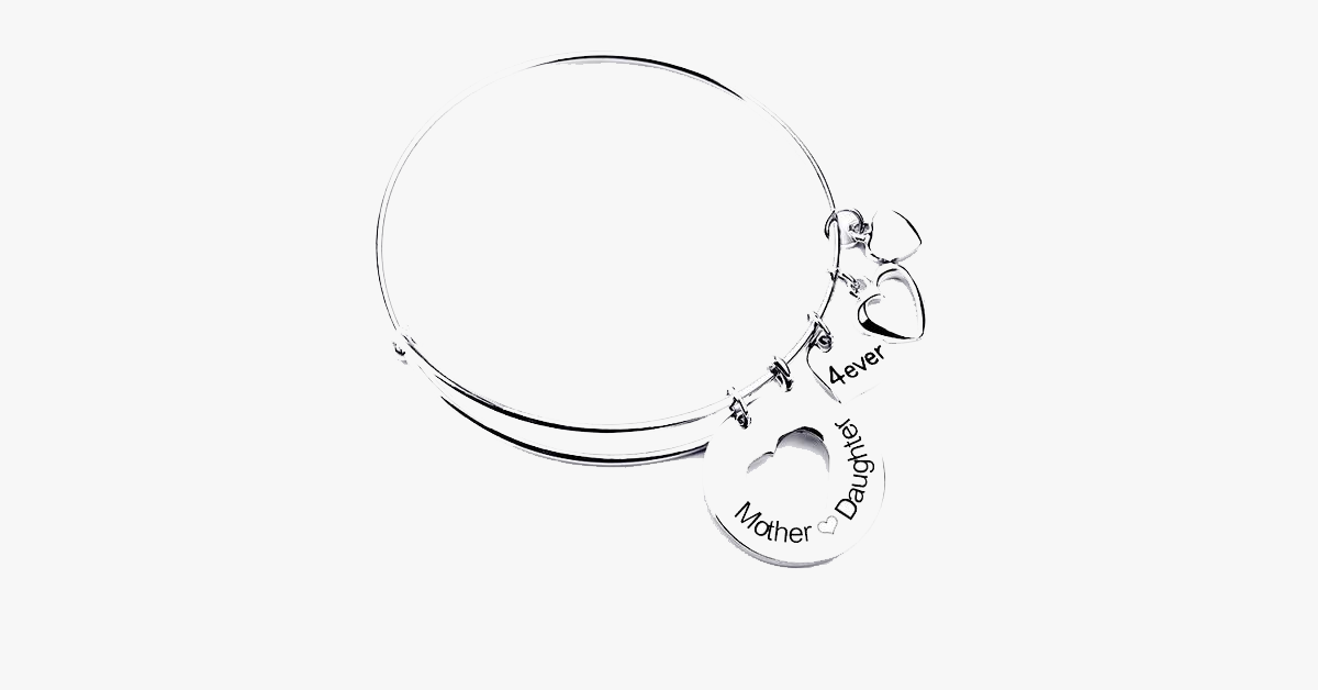 Mother Daughter Love Charm Bangle - FREE SHIP DEALS