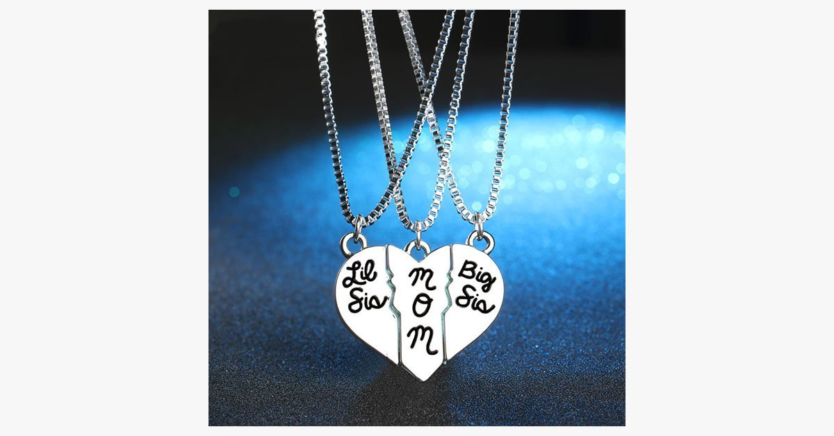 Big-Lil Sister-Mom Pendant Necklace - FREE SHIP DEALS
