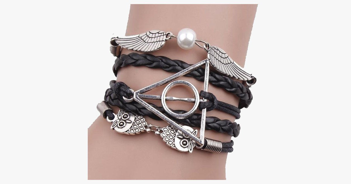 Black Deathly Hallows Bracelet - FREE SHIP DEALS