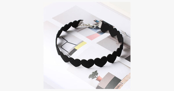 Black Heart Choker - FREE SHIP DEALS