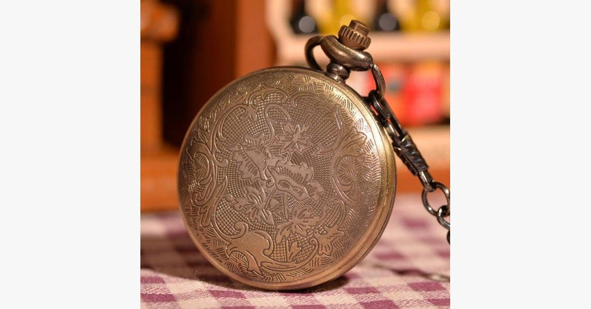 Gold Forest Half Hunter Pocket Watch - FREE SHIP DEALS