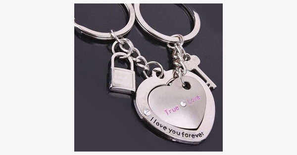 Couple's Key and Lock Keychain - FREE SHIP DEALS