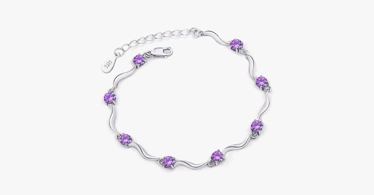 Crystal Charm Chain Bracelet - FREE SHIP DEALS
