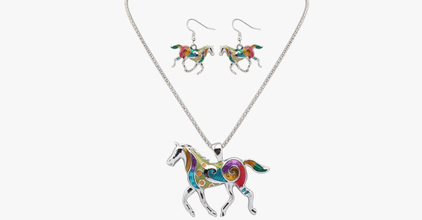 Horse Hippie Pendant Set - FREE SHIP DEALS