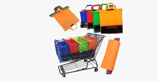 Foldable Reusable Shopping Cart Bags 4pcs