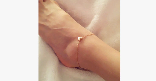 Gold Heart Anklet - FREE SHIP DEALS