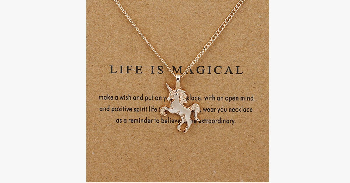 Life Is Magical Unicorn Necklace - FREE SHIP DEALS