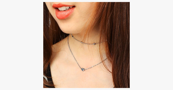 Double Layers Chain Heart Necklace - FREE SHIP DEALS