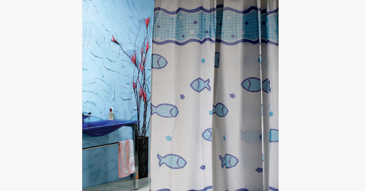 Waterproof Shower Curtain - Fish Design - FREE SHIP DEALS