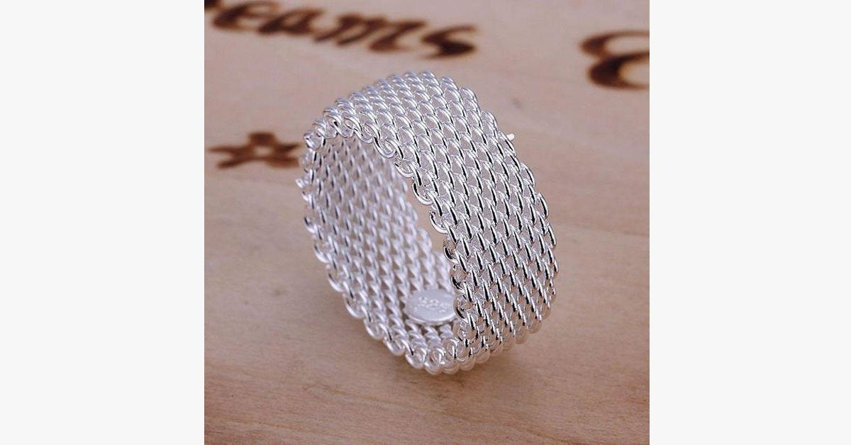 Woven Basket Cuff Ring - FREE SHIP DEALS