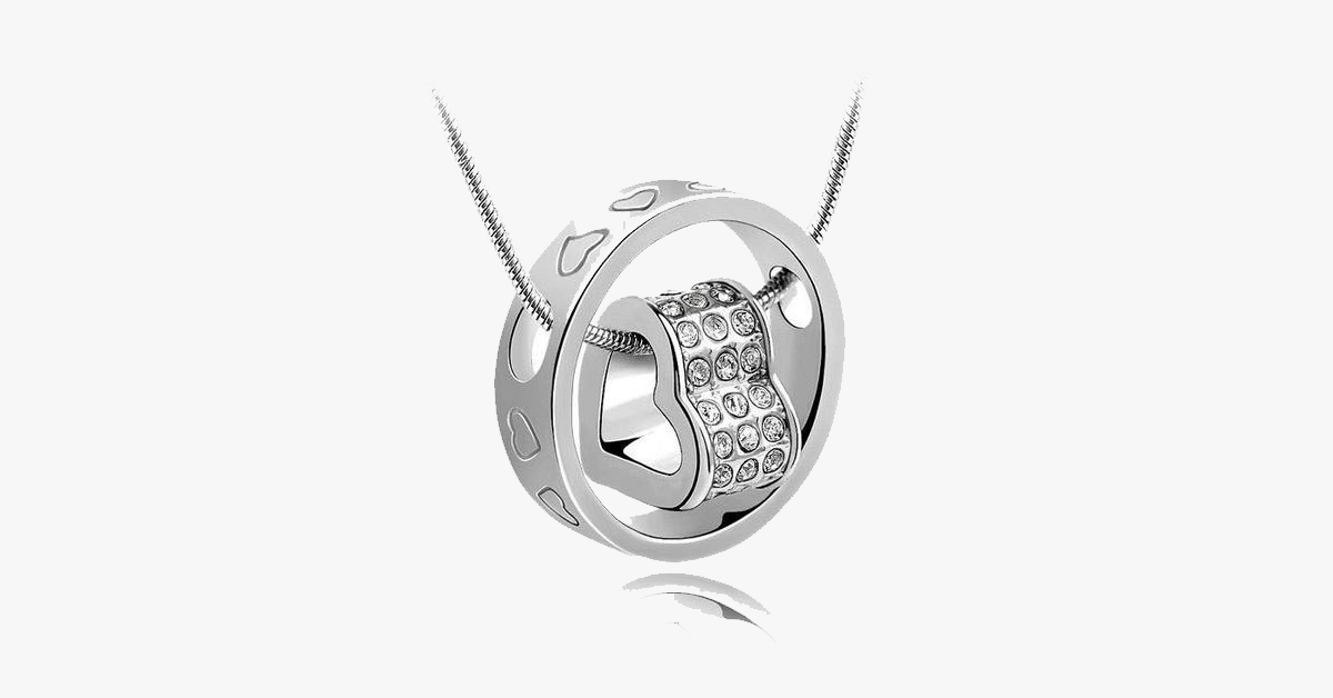 Forever Heart Pendant - White Gold - FREE SHIP DEALS