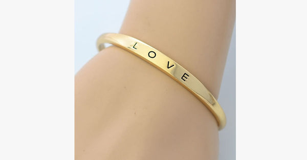 Gold Plated Love Bangle - FREE SHIP DEALS