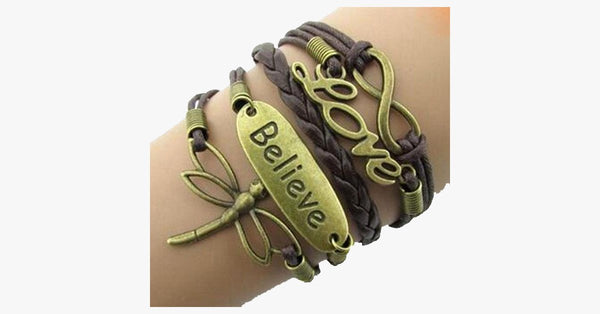 Dragonfly Believe Love Infinity - FREE SHIP DEALS