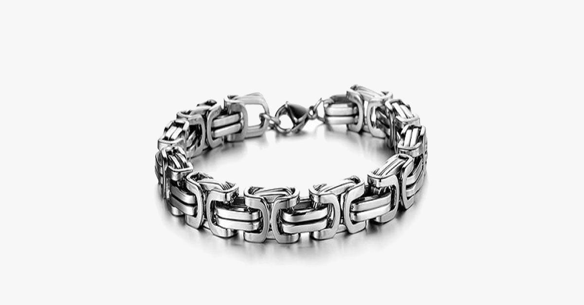 Luxury Personalized Man Bracelet New Cool Gold/Silver Stainless Steel - FREE SHIP DEALS