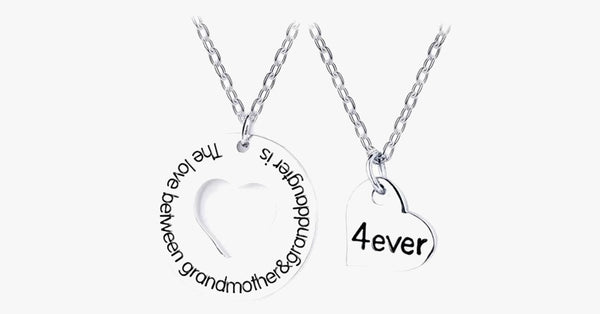 Grandmother & Granddaughter Necklace Set