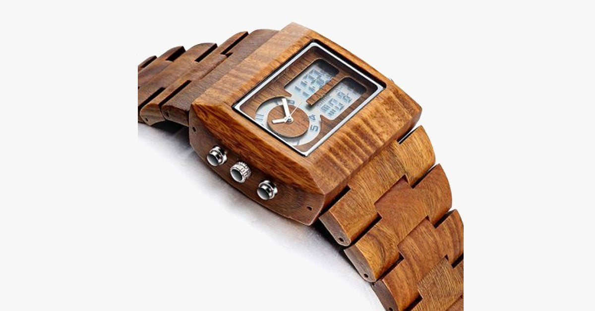 Luxury Sandalwood Analog Watch - FREE SHIP DEALS