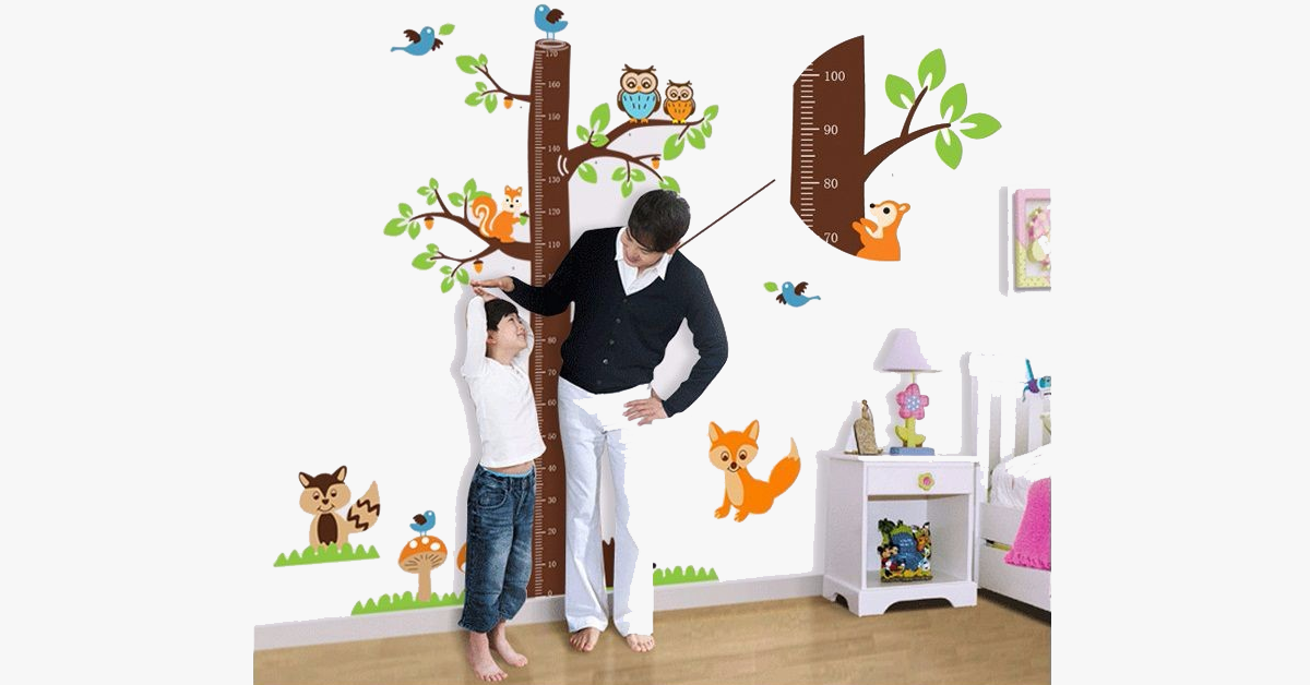Wall Stickers Children's Room Height Squirrel Stickers - FREE SHIP DEALS