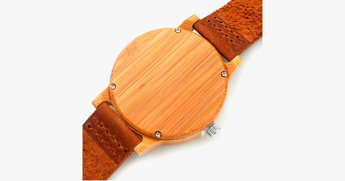 Natural Brown Wooden Watch - FREE SHIP DEALS
