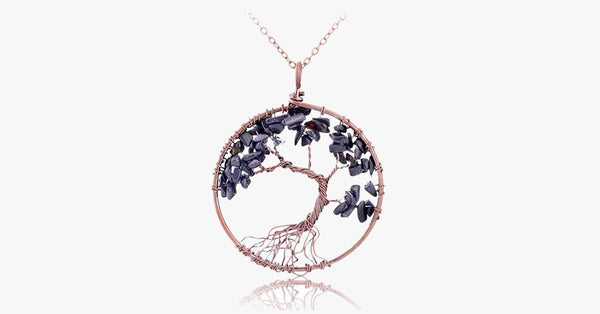 Wisdom Tree Quartz Pendant Necklace - FREE SHIP DEALS