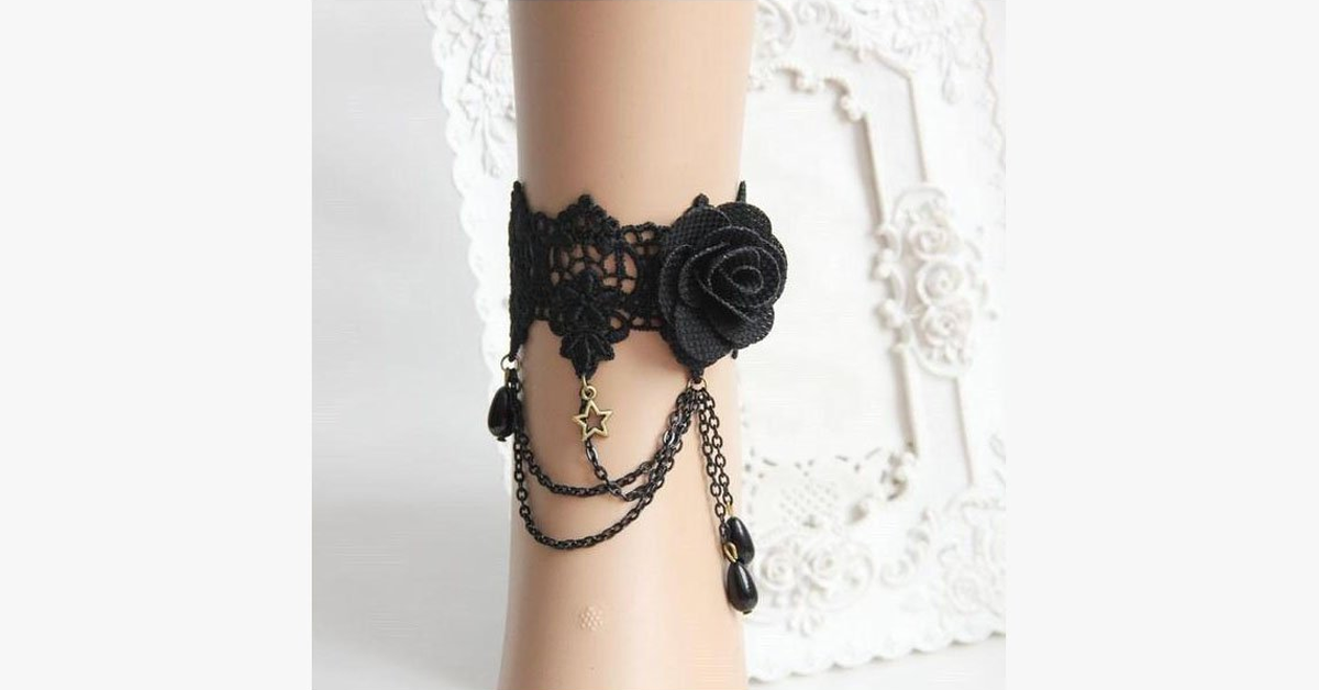 Dark Rose Anklet - FREE SHIP DEALS