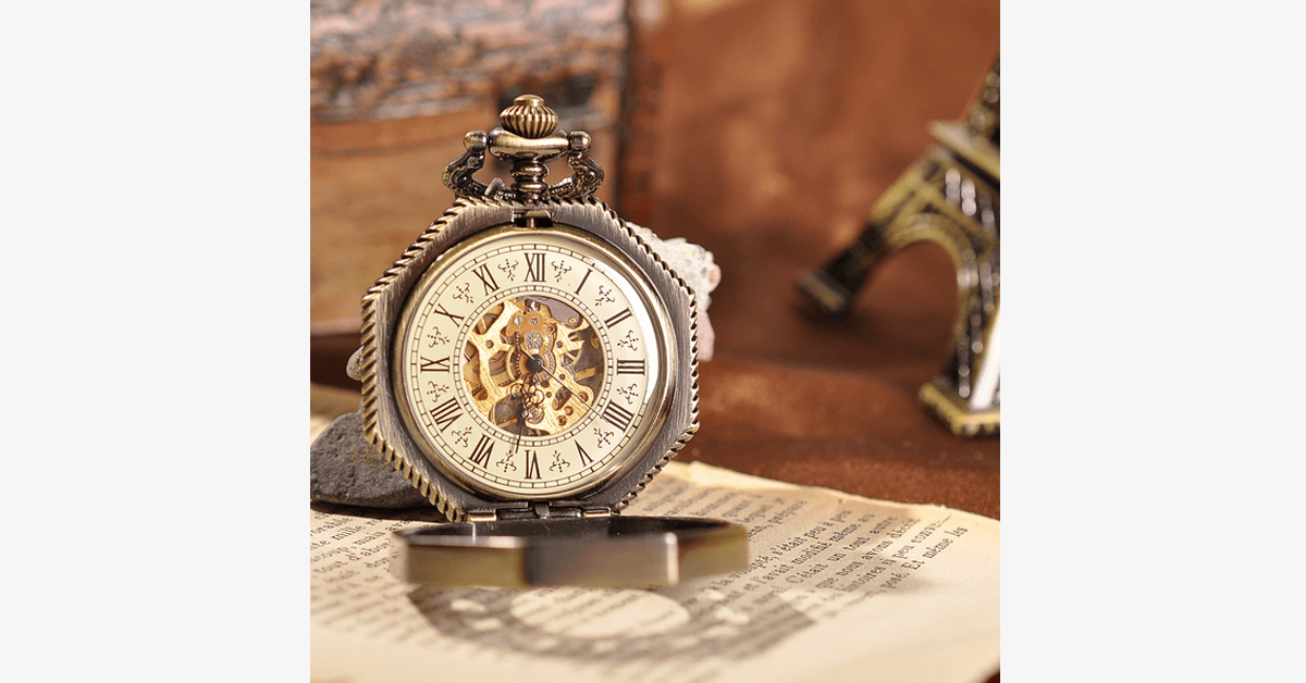 Golden Treasure Mechanical Pocket Watch - FREE SHIP DEALS