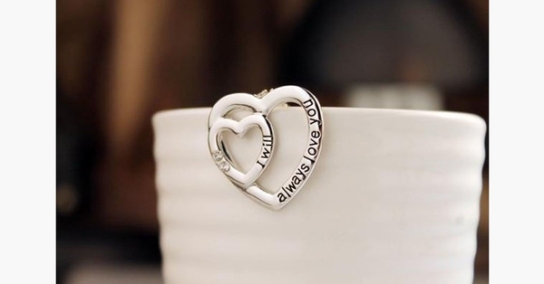I Will Always Love You - Double Heart - FREE SHIP DEALS