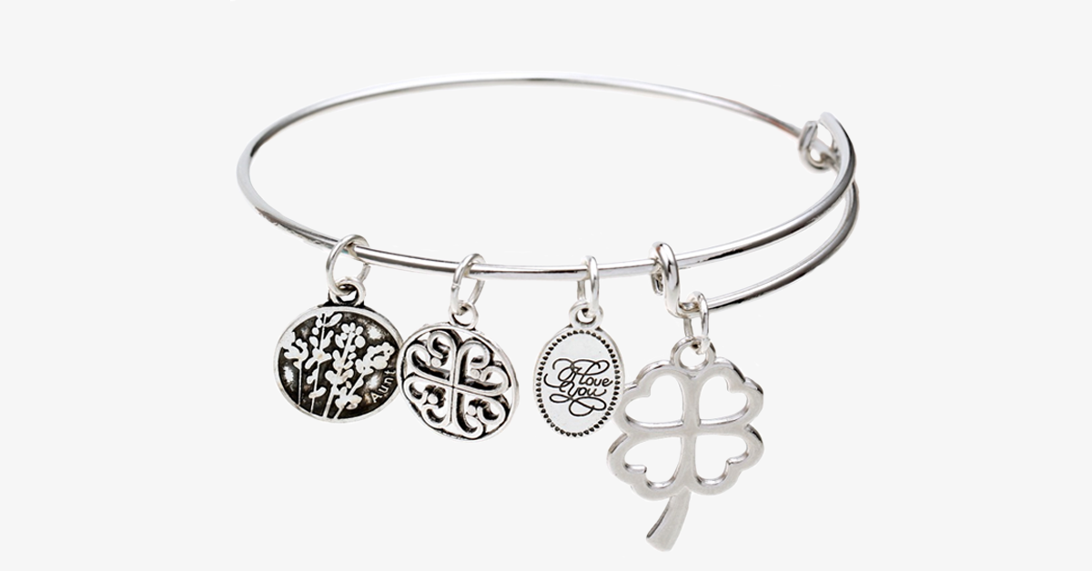 Love and Luck Enchanting Charm Bangle - FREE SHIP DEALS