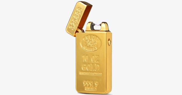 Gold Brick Rechargeable Windproof Lighter - FREE SHIP DEALS