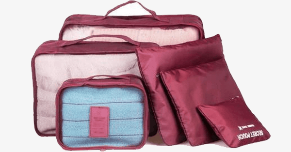 6 PC Portable Travel Luggage Packing Cubes - FREE SHIP DEALS