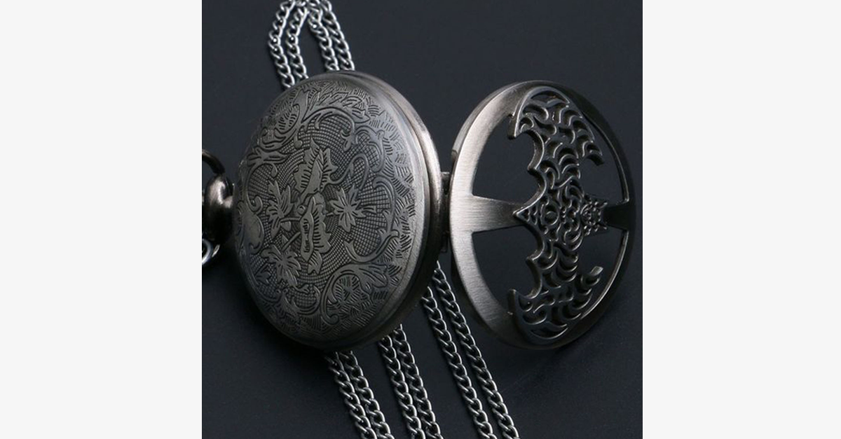 Batman Half Hunter Pocket Watch - FREE SHIP DEALS