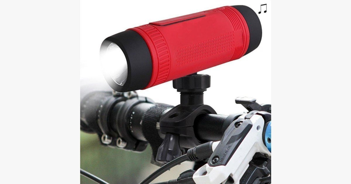 Bicycle Waterproof Bluetooth Speaker with LED Light - FREE SHIP DEALS