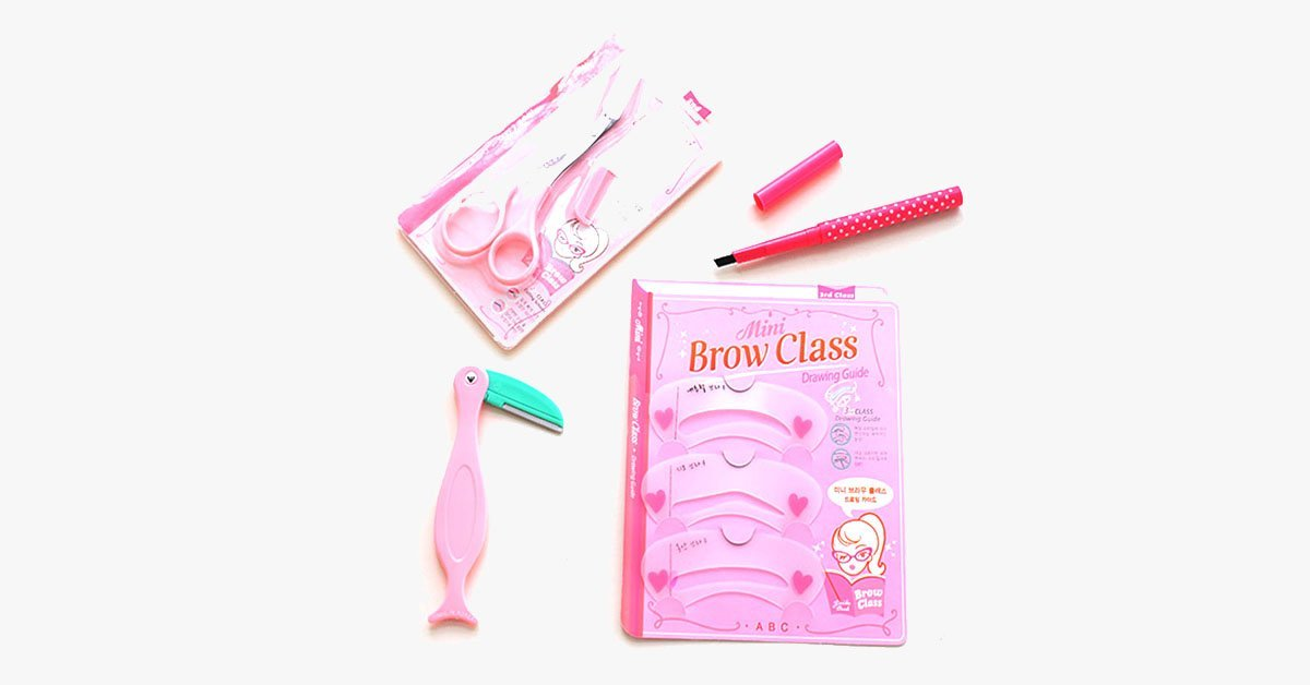 4 Pcs Eyebrow Tool Set - FREE SHIP DEALS