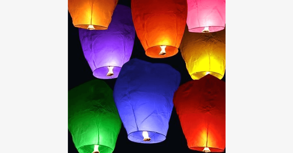 10 or 20 Pack Chinese Sky Fly Fire Lanterns - FREE SHIP DEALS