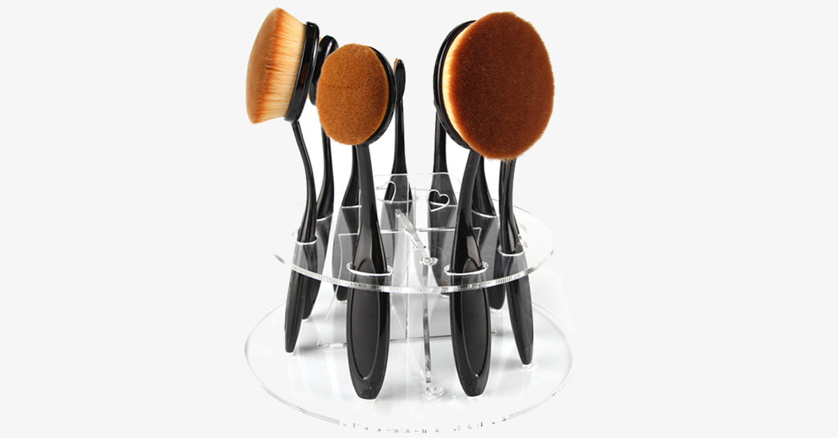 Oval Brush Holder - FREE SHIP DEALS