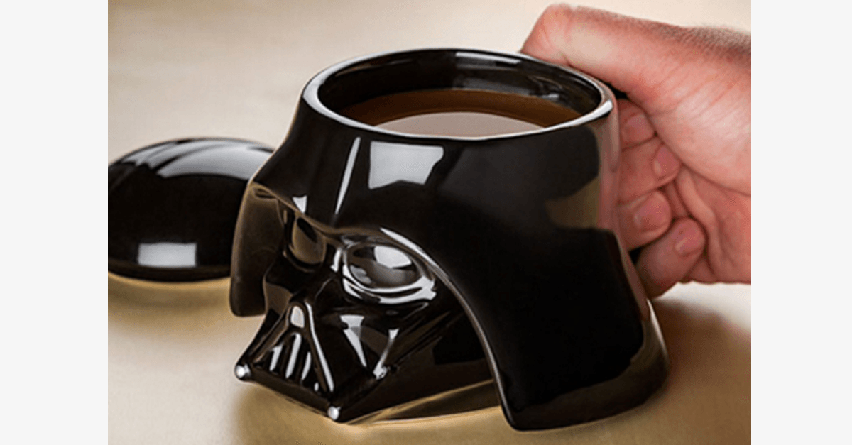 3D Star Wars Ceramic Mug With Removable Lid - Darth Vader or Stormtrooper Styles Available - FREE SHIP DEALS