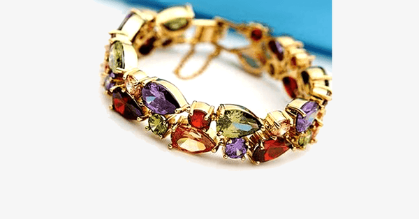 Multi-Color Crystal Bracelet - FREE SHIP DEALS