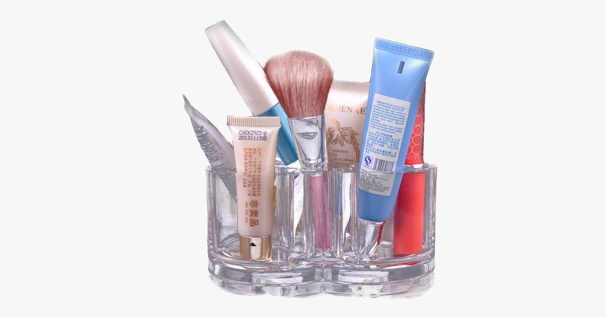 Acrylic Make Up Brush Stand - FREE SHIP DEALS