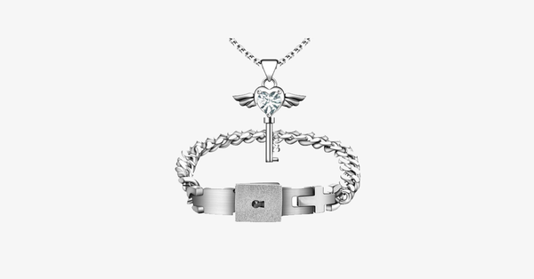 Angel Love Pendant & Men Bracelet Set - FREE SHIP DEALS