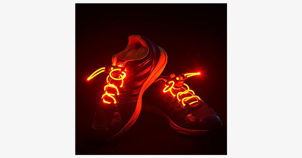 LED Waterproof Shoelaces - 3 Modes - Assorted Colors - FREE SHIP DEALS
