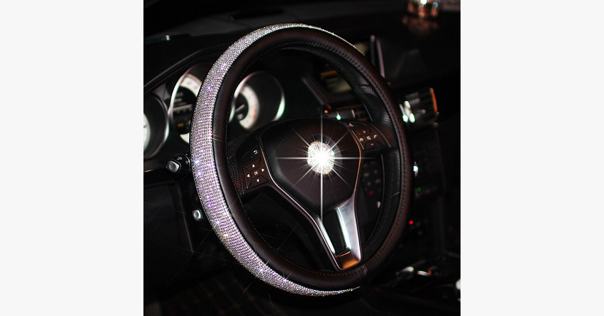 Swarovski Diamonds Steering Wheel Cover