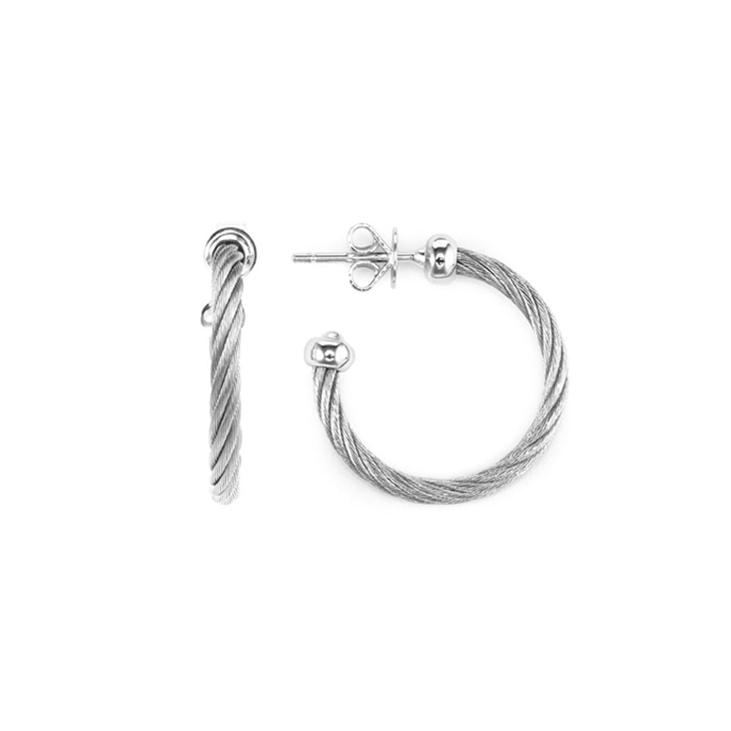 Celtic-Silver-Earrings-Stainless-steel-cable-(2.5mm)