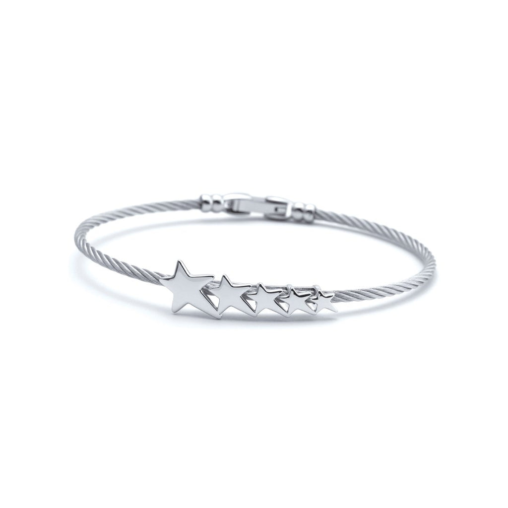 Dream-Silver-bangle-Stainless-steel-cable-(2.0mm)-Size-L