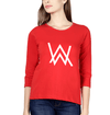 Alan Walker Womens Full Sleeves T-Shirts-FunkyTradition Half Sleeves T-Shirt FunkyTradition