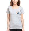 IPL CSK Chennai Super Kings Logo Womens Half Sleeves T-Shirts-FunkyTradition Half Sleeves T-Shirt FunkyTradition