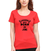 Legends are Born in June Womens Half Sleeves T-Shirts-FunkyTradition Half Sleeves T-Shirt FunkyTradition