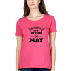 Legends are Born in May Womens Half Sleeves T-Shirts-FunkyTradition Half Sleeves T-Shirt FunkyTradition